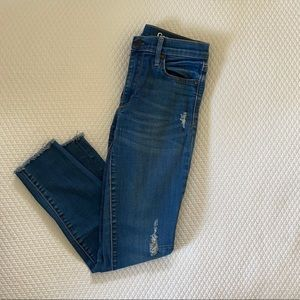 Ankle length distressed skinny